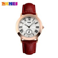 SKMEI Fashion Casual Ladies Leather Strap Watch Water Resistant 30m -
