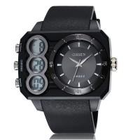 Ohsen Oversized Waterproof Quartz Digital Sport Watch - AD1503-1 - Bla