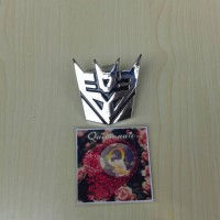 Jual Emblem Logo Transformers Chrome Murah