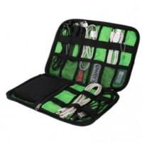 BUBM Gadget Organizer Bag Portable Case - DIS-L - Black/Green