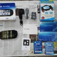 PS Vita Slim Full Black FULLSET ORIGINAL 99% MULUS Ex: PS Enterprise