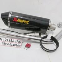 Knalpot Akrapovic Carbon buat Vixion, R15, CB150R, CBR Lokal (Fullset)