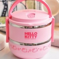 Jual Lunch Box Rantang Stainles Hello Kitty 2 susun Murah