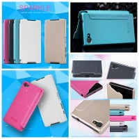 jual flip leather case nillkin sony xperia z5 compact sparkle murah