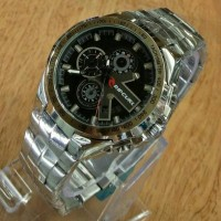 JAM TANGAN COWO RANTAI RIPCURL SILVER BLACK REPLIKA EXPEDITION E-6603
