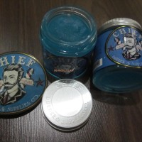 CHIEF BLUE POMADE SOLID HOLD WATERBASED 4.2OZ FREE SISIR - GLASS JAR