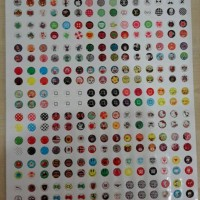 1papan=330pcs Sticker Home Button Iphone / Ipad / Ipod Stiker Gambar