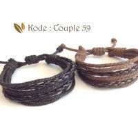 Gelang Kulit, Gelang couple, gelang pasangan pria wanita Couple 59