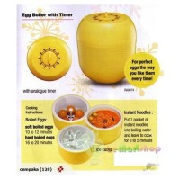 Alat Pengukus / Perebus Telur dengan Penghitung Waktu (Egg Boiler + Timer)