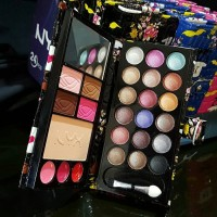 DOMPET NYX Make Up Pallete Kit Kecil / Eyeshadow Palette Saku Motif