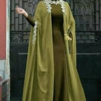 BUSANA MUSLIM PESTA MAXI DRESS ISMAYA GREEN