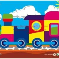 Mainan Anak Kayu Edukatif ATT-PG005Puzzle Gambar Kereta Api