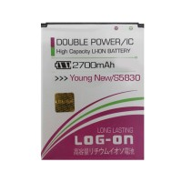Baterai Double Power Log on Samsung Young New / Ace / s5830