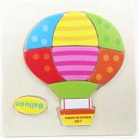 Puzzle Jigsaw Kayu 3D Mainan Edukasi Anak Balita Balon Udara PK-039
