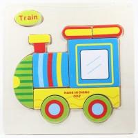 Puzzle Jigsaw Kayu 3D Mainan Edukasi Anak Balita Train Kereta PK-037