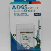 Adss Gold Bl-4b For Nokia 6111/n76..battery/batre/baterai.