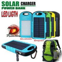 Jual NEW Powerbank Solar Cell+Lampu Emergency 12 LED Murah