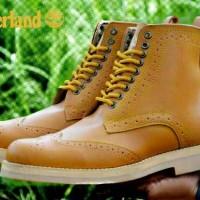 Sepatu boot timberland wingtif tan