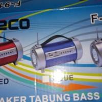 Speaker Tabung Bass USB / SD + Radio FM & Lampu Senter LED Fleco F-912UR
