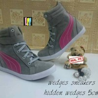 harga Sneaker Wedges Puma Grey Pink Tokopedia.com
