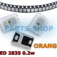 SMD LED 2835 Orange color 0.2w 1012 chip 3528 1/5w nyala warna jingga