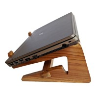 Wooden Case Box Laptop Stand Meja Kayu Jati Portable Lipat Duduk Unik