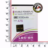 Baterai Cross A7S 3000mAh LOGON Double Power