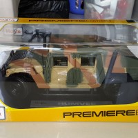 Humvee 1/18 Brown Maisto 4 door + Weapon Rifle for figure Military ver