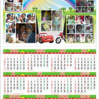 Jual Cetak Kalender 2016 bisa pakai foto keluarga Murah