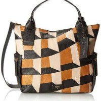 FOSSIL EMERSON PATCHWORK NEUTRAL MULTI