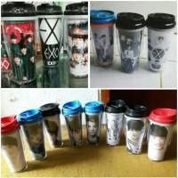 Tempat Botol Minum Tumbler Korea Kpop EXO BTS Custom Request Gambar