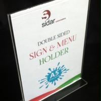 Holder brosur / poster ukuran A5 Akrilik