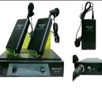 harga Mic Wireless Aiwa Uhf 358 Clip On (jepit) Tokopedia.com