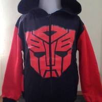 JKKDL7 - Jaket Anak Laki Transformer Black Red Logo