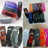 Jam Tangan Gelang LED Puma Nike Adidas Digital Watch