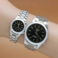 jam tangan couple seiko / jtr 236 black