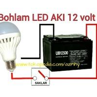 harga 9W BOHLAM DC 12V LAMPU LED AKI SOLAR CELL PANEL SURYA Tokopedia.com