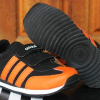 Sepatu Anak Adidas LA Trainer Kids HitamOrange(Sekolah,Balita,Running)