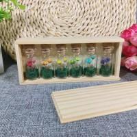 Magic flower Wood Case - Snowy flower, Botol kaca, Gift, Kado
