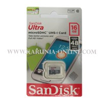 Jual SANDISK ULTRA MICROSDHC 16GB CLASS 10 UP TO 48MB/S Murah