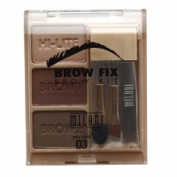 Set Alis - Milani Brow Fix Brow Kit - 03 Dark (Vegan)