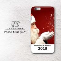 Santa Claus Happy New Years 2016 iPhone Case 4 4s 5 5s 5c 6 6s Plus