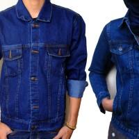 Jaket Jeans Couple Biru tua Biowosh  - jaket couple levis