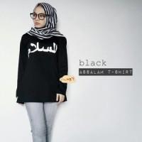 Blouse Moslem / Kaos lengan Panjang Tulisan Arab Sesuai Pesanan