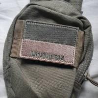 Jual Patch Bendera Indonesia Bordir Velcro (Khaki, OD, Sand) Murah