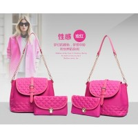 tas tangan kempit satchels hobo wanita elizabeth kipling pink rose vnc