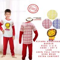 Piyama Anak / Setelan Kaos Panjang Anak Laki-laki & Perempuan Leeva