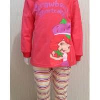 Piyama/baju Tidur Anak Stroberry