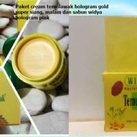 Jual Paket Cream Temulawak Hologram Gold Super + Sabun Widya Holo Pink Murah