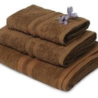 Handuk Mandi Natural Set 3pcs-Coklat Tua